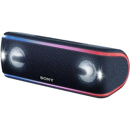 ソニー ワイヤレスポータブルスピーカー 重低音モデル SRS-XB41 : 防水・防塵・防錆/Bluetooth/専用スマホアプリ対応 ライティング機能搭載 / マイク付き/ ブラック SRS-XB41 B