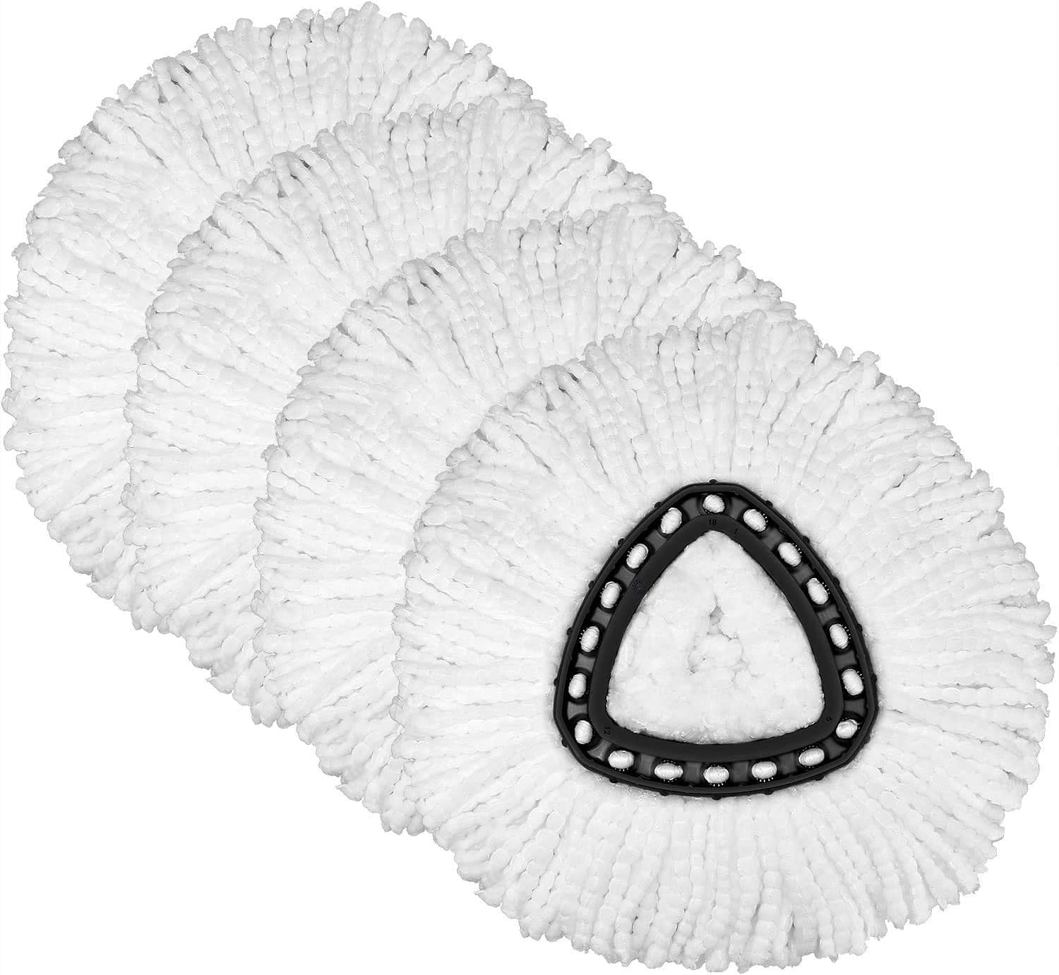 4 Luxury Pack Mop Replacement Heads Compatible with Mail order cheap Microfibe Spin