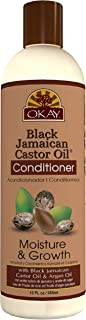 OKAY | Black Jamaican Castor Oil Conditioner | For All Hair Types & Textures | Revive - Moisturize - Grow Healthy Hair | w...