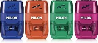 Milan Compact Sharpener-Eraser, Display of 16