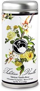 Tahitian Vanilla Rose Tea: Oolong, All-Natural, Gluten Free, 24 servings