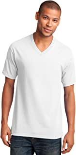 Men's 54 oz 100% Cotton V Neck T Shirt
