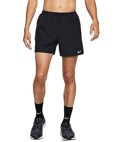 Nike Dri-FIT Challenger Shorts 5 Brief (Black/Reflective Silver) Men