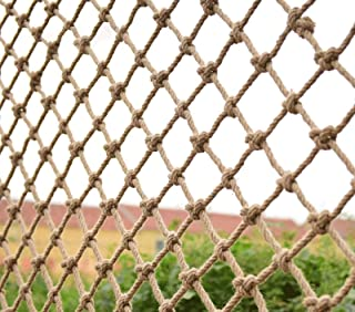 Filet de corde de chanvre, diamètre 6 mm, maille 10 cm, filet de clôture de jardin corde tissée à la main filet d'escalade...