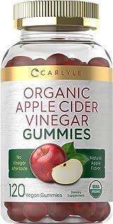 Organic Apple Cider Vinegar Gummies | 120 Count | USDA Certified Organic | Vegan, Non-GMO & Gluten-Free ACV Gummies| Natur...