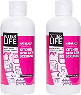 Better Life Natural Kitchen and Bath Scrubber, 16 Ounces (Pack of 2), 24434
