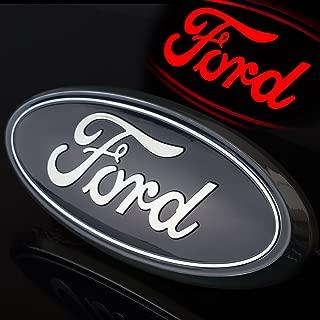 SISUNS 2016-2017 Ford Explorer Tailgate 7″ Emblem Blue / Chrome Finish Licensed LED Light Emblem