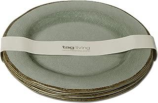 Quest TAG Veranda Melamine Dinner Plate Set of 4 Slate Blue