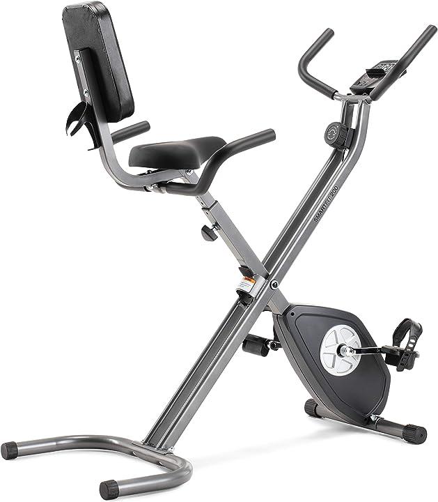 Cyclette pieghevole, unisex, nero e argento cadence smartfit 200 AMIEX70916