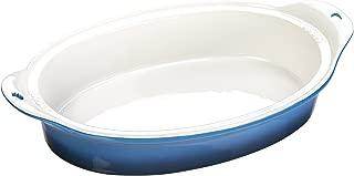 Lodge, Dish Baking 8X11.75 Blue Stoneware