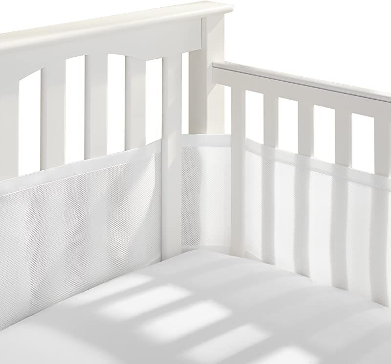 BreathableBaby Classic Breathable Mesh Crib Liner White
