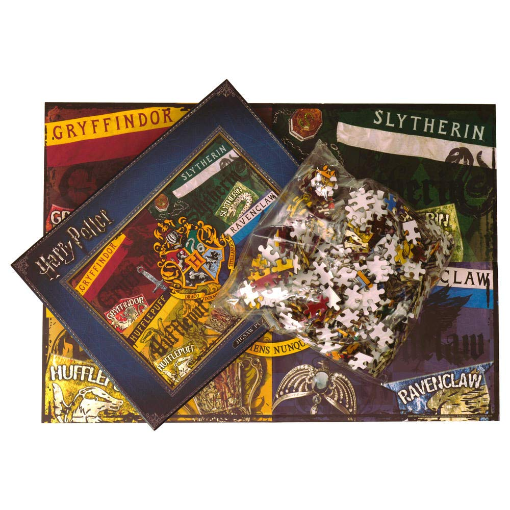 Harry Potter Hogwarts Casas Puzzle con piezas de 500 – Puzzle Juego: Amazon.es: Jardín