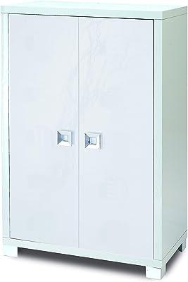 Esidra Mobile Buffet Contenitore, Due Ante, Legno, Bianco, 73 x 115 x 41 cm