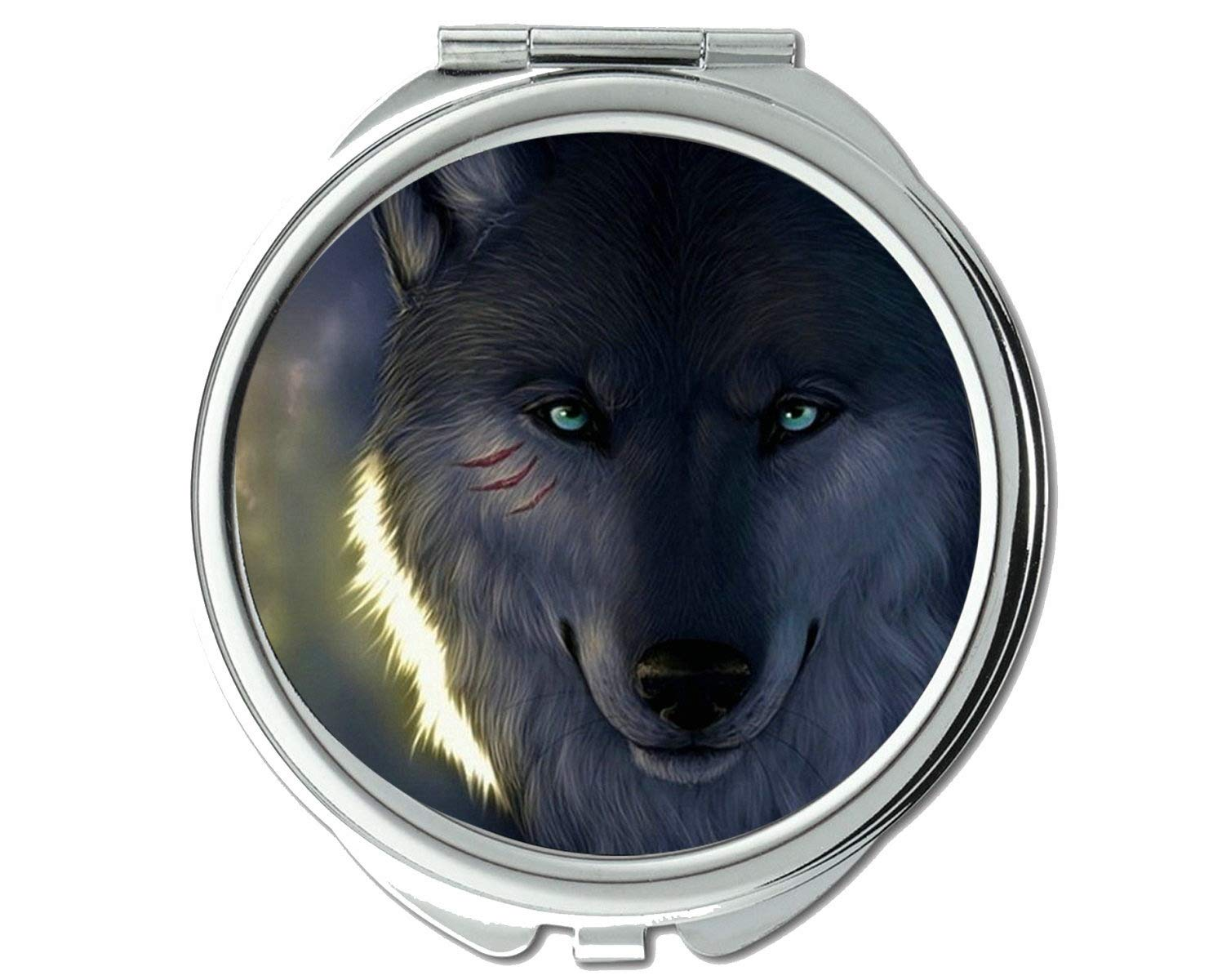 Be Selling rankings super welcome Mirror Makeup Animal wolf warm pocket 1 2X X Magni mirror