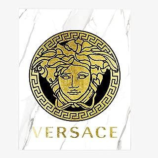 Wall Fashion Glam Art Poster Medusa Gold Foil