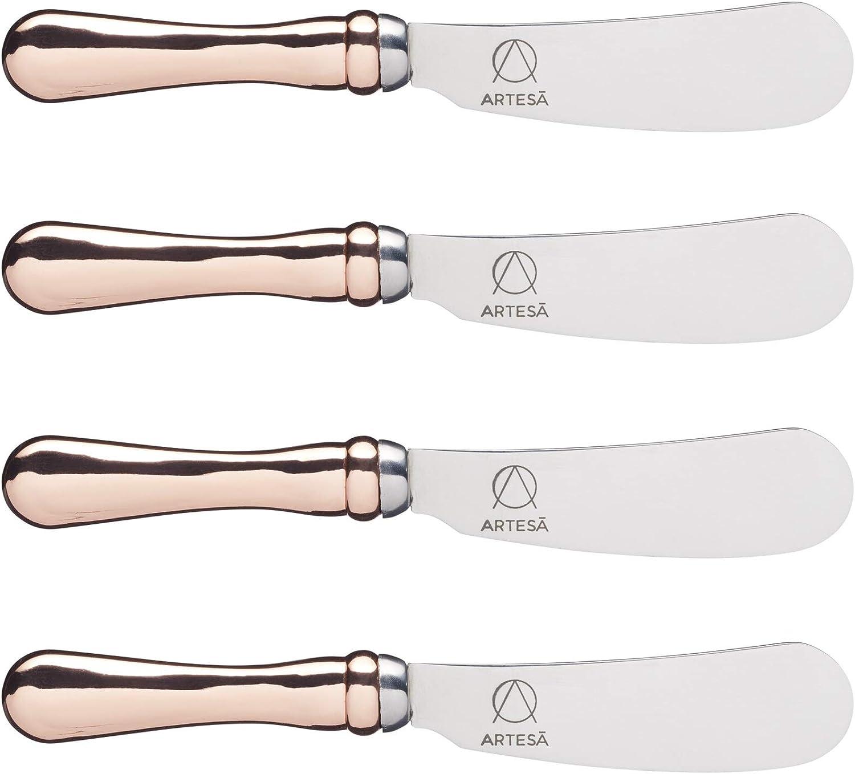 4 years warranty MasterClass ARTBUTKNPK4 Regular discount Artesà Butter Knife Gol Set with Rose