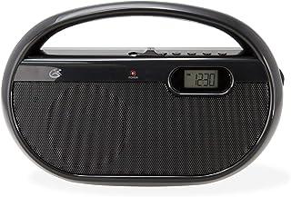 GPX, Inc. R602B Portable AM/FM Radio with Digital Clock and Line Input (Black)