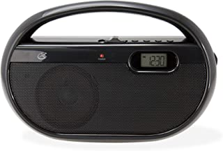 GPX, Inc. R602B Portable AM/FM Radio with Digital Clock and Line Input (Black)