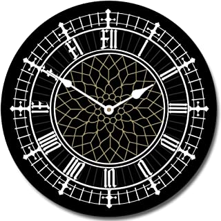 Big Ben Black Wall Clock, Available in 8 Sizes, Most Sizes Ship 2-3 Days, Whisper Quiet.