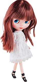 Mrocioa Bjd Girl Doll Big Eyes 4 Color Changing,12 Inch Customized Dolls with Long Wigs Clothes Set,Compatible with Blythe ICY Dolly