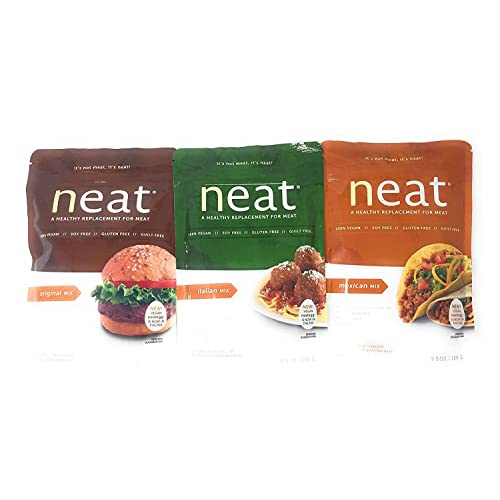 Neat Vegetarian Mix Variety 5.5 Ounce Packs: Original, Italian, Mexican (1 of each)