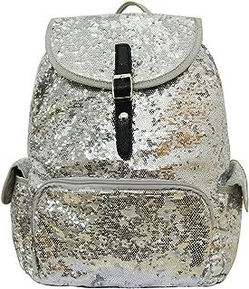 Glittery Sequined Drawstring Backpack Bookbag