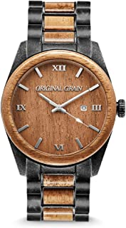 wood chronograph watch