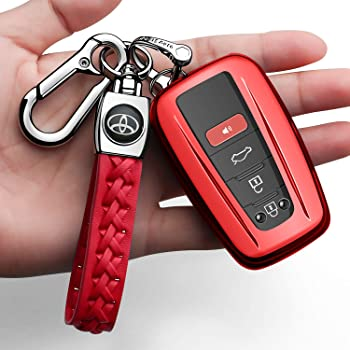 TPU Smat Key Fob Cover Case For Toyota Camry RAV4 Prius GT86 Prado Corolla Red