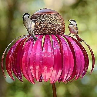Mangeoire à oiseaux Sensation Red Coneflower - Mangeoire à oiseaux d'extérieur - Mangeoire pour oiseaux sauvages