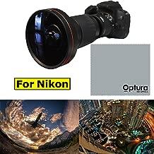 X21 8K HD Wide Angle Lens + Macro Lens for Nikon D40 D50 D60 D70 D80 D90 D3100+OPTURA HD Microfiber Cloth