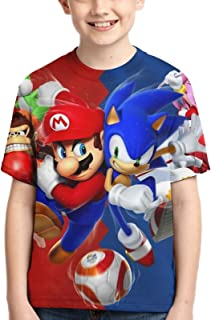 Cartoon T Shirts Fashion T-Shirts 3D Printed Shirt Anime Short Sleeve Youth Tee Cartoon Tops for Boys