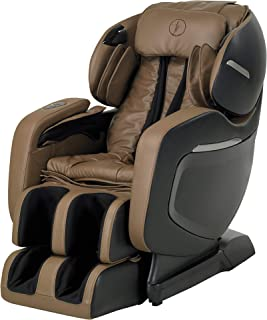 Finally ON Amazon! The 2018 FOREVER REST FR-7Ks Premium L-Track Smart Massage Chair, Triple Foot Rollers, Zero Gravity, Wall Hugger, Stretch and Swing Modes, Bluetooth Speakers. (Black/Beige Carmel)
