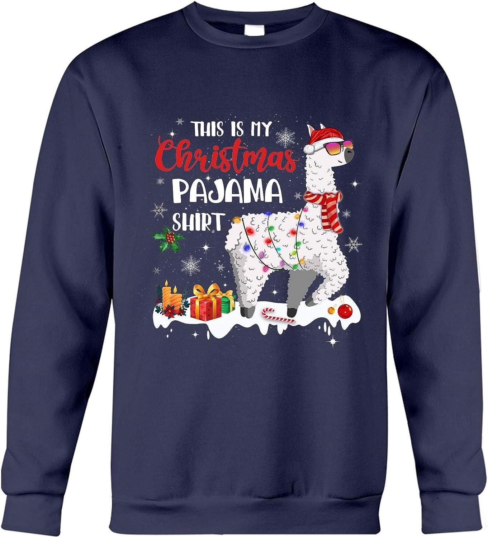 Max Regular store 81% OFF HARUKA SUGINO 996 This is My L Pajama Sweatshirt Christmas Funny