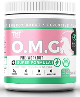 OMG Preworkout Drink for Men and Women with Electrolytes, Organic Caffeine and Organic Stevia| Scientifically Crafted Boos...