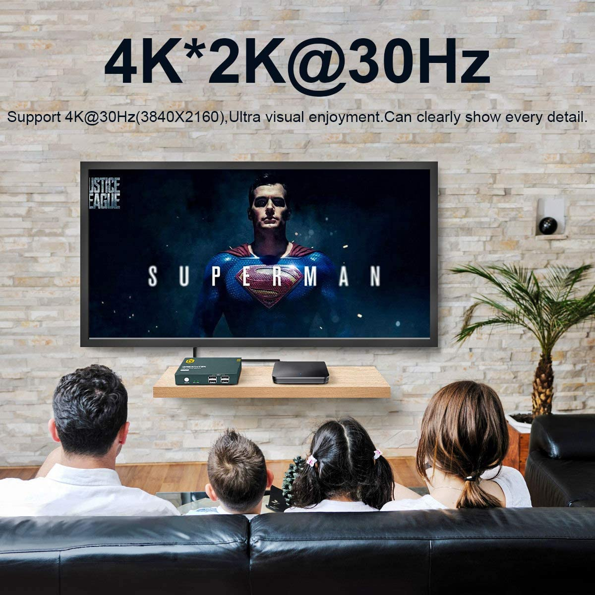 GREATHTEK HDMI KVM Switch USB 2 Port 4K 4K @30Hz KVM Switch 2 PC 1 Monitor Support Wireless Keyboard and Mouse with 2 USB and 2 HDMI Cables USB2.0 Ultra HD