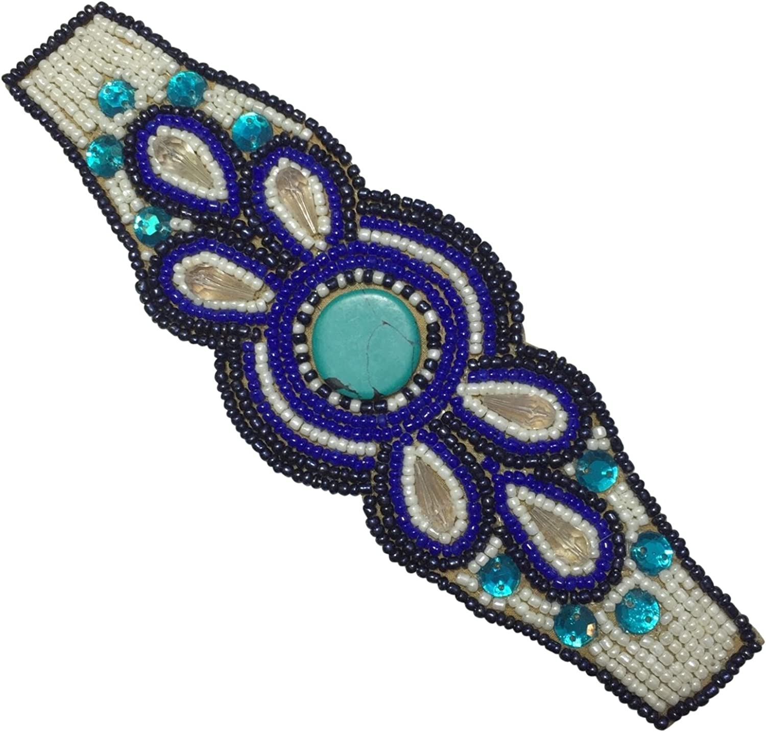 Gypsy Jewels Bohemian Beaded Multi Color Statement Wired Adjustable Cuff Bracelet
