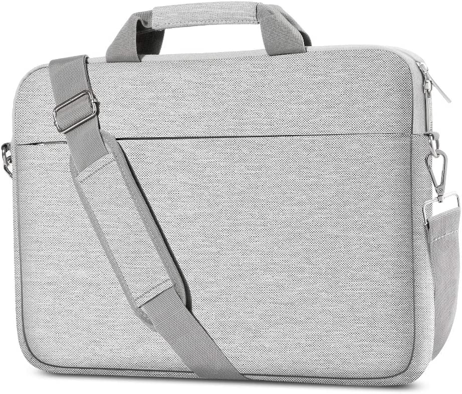 AtailorBird Laptop Bag 15.6 Inch, Business Expand Shoulder Messenger Bag Water Repellent Multifunctional Upgrade Briefcase Notebook Protective Case with Handle for Travel, Office - Gray