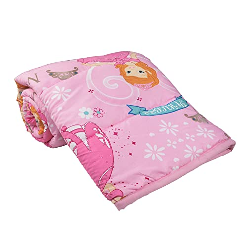 Clasiko Cotton Microfiber Single Bed Comforter Cartoon Print Magic Princes_Blue:Pink