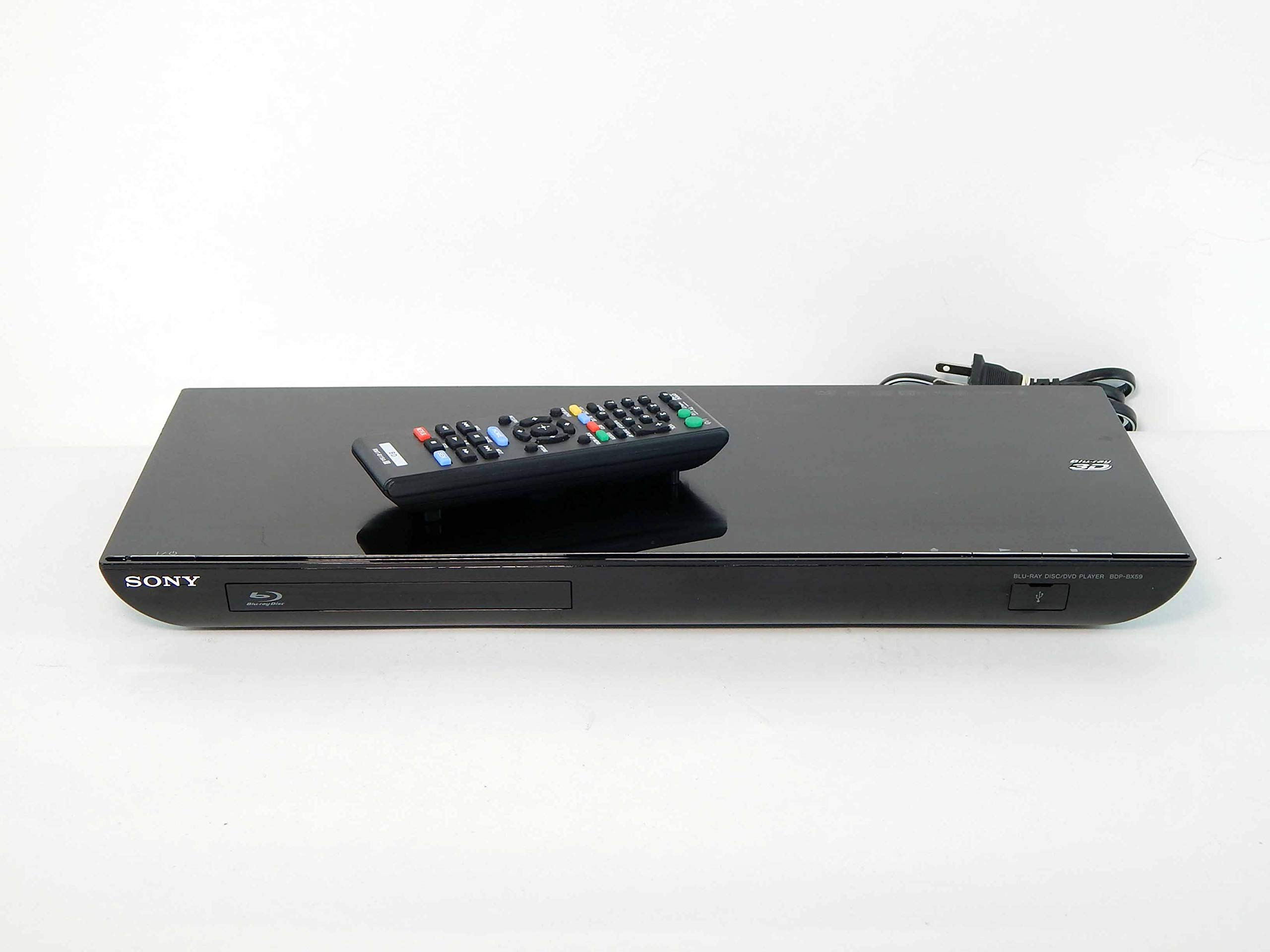 Amazon Com Sony Bdp Bx59 1080p 3d Blu Ray Dvd Player Built In Wifi Netflix Internet Apps Electronics