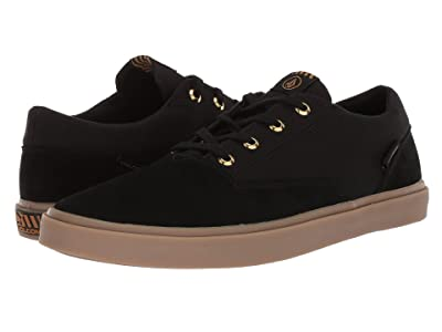 Volcom Draw Lo Suede Shoes (Black Out) Men