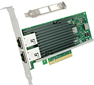 10ギガビット サーバ/デスクトップPCI-e 100Mbps/1/10Gbps自動ネゴシエーションネットワークアダプタ(インテル Intel X540-T2に相当)