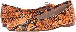 Neon Orange Snake Print