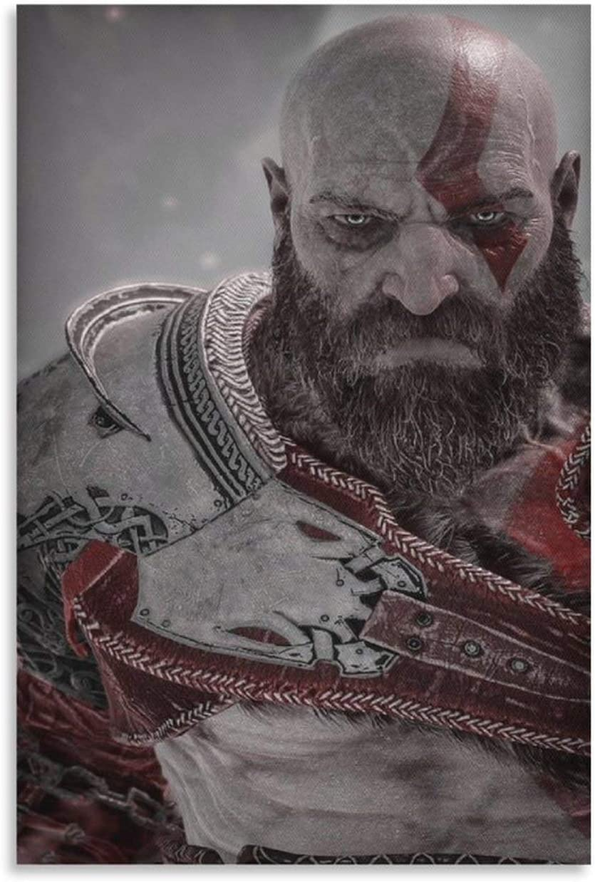 IVEVER Game Poster God of War Wal 9 Kratos Outlet ☆ Max 47% OFF Free Shipping Canvas Art and