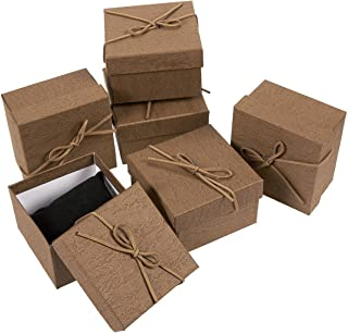 6-Piece Gift Box Set - Jewelry Gift Boxes for Anniversaries, Weddings, Birthdays - 3.5 x 2.3 x 3.5 Inches