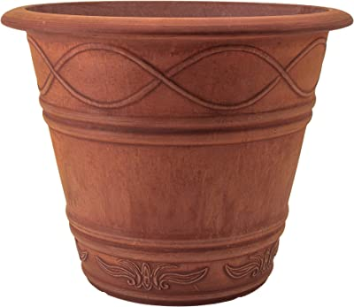 PSW ME36TC Western Weave Planter, 14 by 11.5-Inch, Terra Cotta