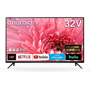 TCL 32型 ハイビジョン スマートテレビ(Android TV) 32S515 ネット動画サービス対応 液晶テレビ 外付けHDDで裏番組録画対応 2020年モデル