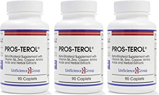 Sponsored Ad - Pros-TEROL (3 Bottle kit), Prostate Relief with 900 mg Plant Sterols with Pumpkin Seed, Stinging Nettle Roo...