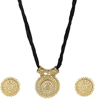 Indian Bollywood Traditional Heavy Bridal Designer Jewelry Necklace Set in Antique 18K Gold Tone for Women and Girls