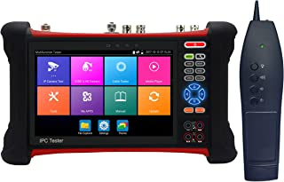 EVERSECU 7 Inch All in One Retina Display IP Camera Tester Security CCTV Tester Monitor with SDI/TVI/AHD/CVI/Multimeter/TDR/OPM/VFL/POE/WIFI/4K H.265/HDMI in&Out/Firmware Update