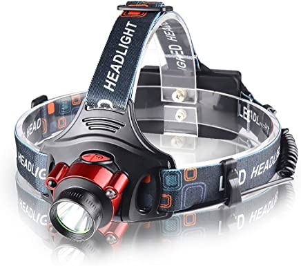 Tong Strong Light Sensor Headlight Rechargeable Lithium Battery Head-Mounted Flashlight Night Fishing Searchlight